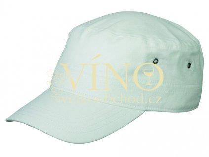 MILITARY CAP MB095 čepice s kšiltem, bílá