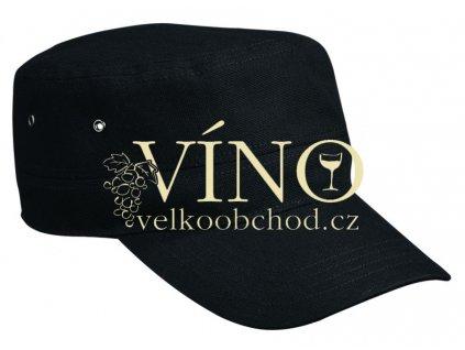 MILITARY CAP MB095 čepice s kšiltem, černá