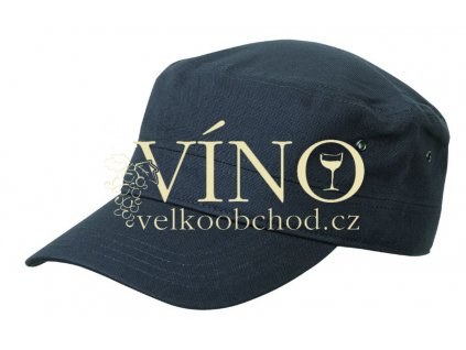 MILITARY CAP MB095 čepice s kšiltem, antracitová