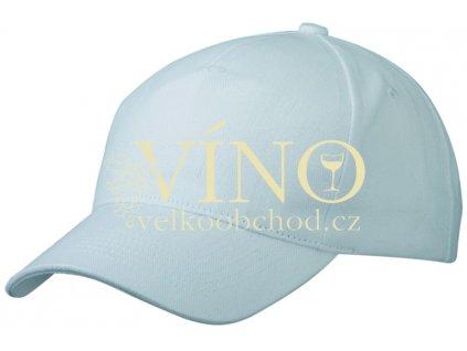 5 PANEL CAP HEAVY COTTON UNBRUSHED MB092 čepice s kšiltem, bílá