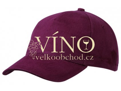 5 PANEL CAP HEAVY COTTON UNBRUSHED MB092 čepice s kšiltem, burgundy hnědá