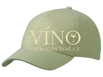 5 PANEL CAP HEAVY COTTON UNBRUSHED MB092 čepice s kšiltem, béžová