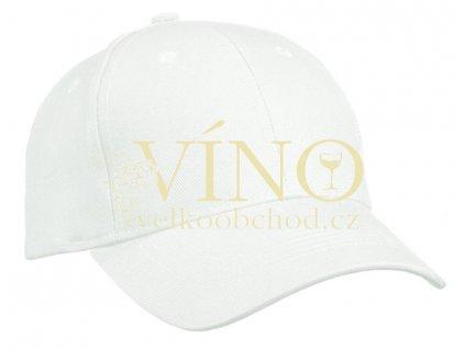 6 PANEL CAP HEAVY COTTON UNBRUSHED MB091 čepice s kšiltem, bílá