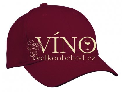 6 PANEL CAP HEAVY COTTON UNBRUSHED MB091 čepice s kšiltem, burgundy hnědá