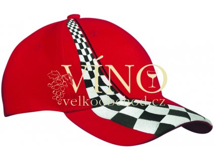 RACING CAP MB038 čepice s kšiltem, červená