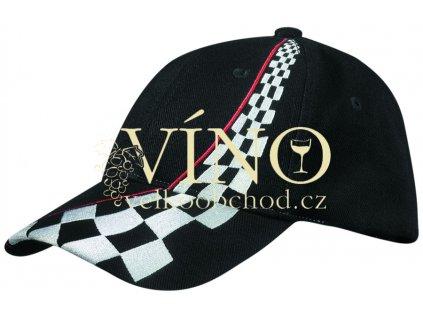 RACING CAP MB038 čepice s kšiltem, černá