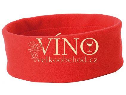 MICROFLEESE HEADBAND MB7710 zimní čelenka do vlasů, červená