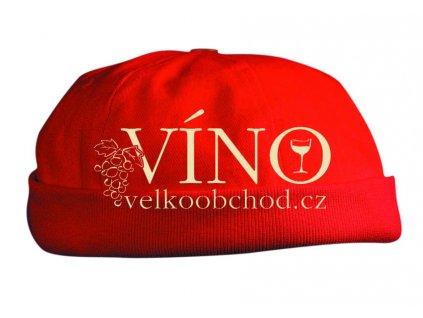 6 PANEL CHEF CAP MB022 čepice, červená
