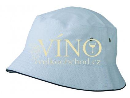 FISHERMAN PIPING HAT FOR KIDS MB013 dětský klobouček, bílá/námořní modrá