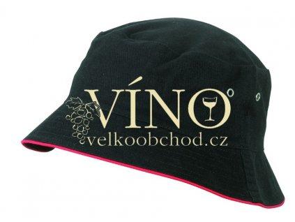 FISHERMAN PIPING HAT FOR KIDS MB013 dětský klobouček, černá/červená