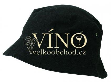 FISHERMAN PIPING HAT FOR KIDS MB013 dětský klobouček, černá/černá