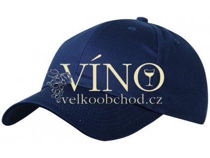 6 PANEL PROMO CAP MB004 čepice s kšiltem, námořní modrá