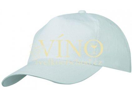5 PANEL PROMO CAP LAMINATED MB002 čepice s kšiltem, bílá