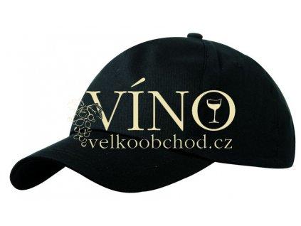 5 PANEL PROMO CAP LIGHTLY LAMINATED MB001 čepice s kšiltem, černá