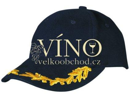 6 PANEL VIP CAP MB6121 čepice s kšiltem, černá