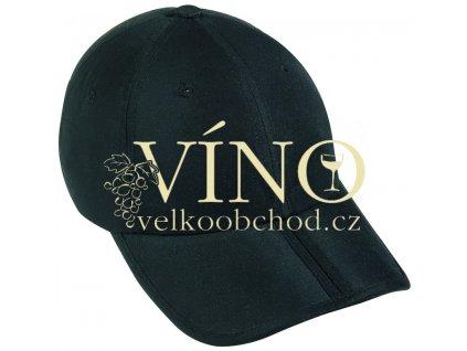 PACK-A-CAP MB6155 čepice s kšiltem, černá
