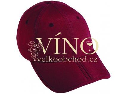 PACK-A-CAP MB6155 čepice s kšiltem, burgundy hnědá
