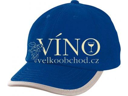 SECURITY CAP MB6192 reflexní čepice s kšiltem, královská modrá