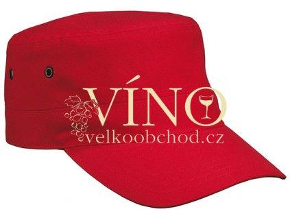MILITARY CAP FOR KIDS MB7018 dětská čepice s kšiltem, červená