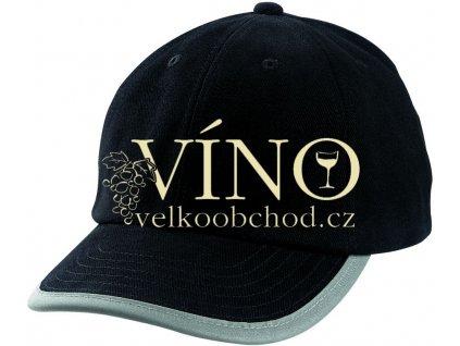 SECURITY CAP MB6192 reflexní čepice s kšiltem, černá