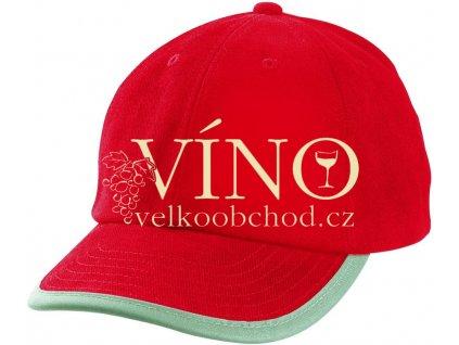 SECURITY CAP MB6192 reflexní čepice s kšiltem, červená