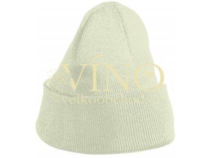 KNITTED CAP FOR KIDS MB7501 dětská zimní čepice, našedlá bílá
