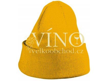 KNITTED CAP FOR KIDS MB7501 dětská zimní čepice, zlatá žlutá