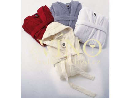 QUALITY BATHROBE HOODED MB430 župan s kapucí unisex, bílá vel. S