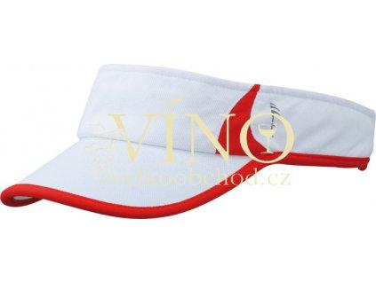 RUNNING SUNVISOR MB6545 kšilt, bílá/červená