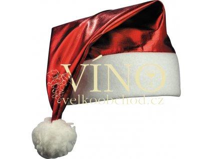 SHINY SANTA HAT MB9503, vánoční lesklá čepička, červená