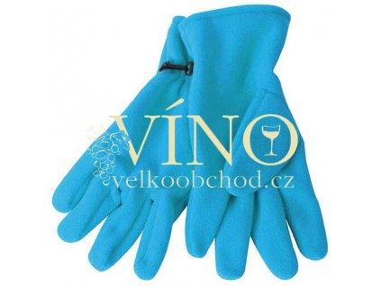 MICROFLEECE GLOVES MB7700 zimní rukavice unisex, aqua modrá, L/XL