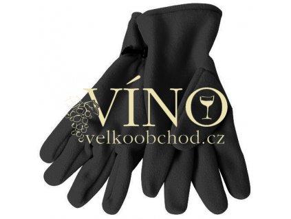MICROFLEECE GLOVES MB7700 zimní rukavice unisex, černá, L/XL
