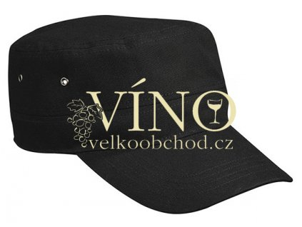 MILITARY CAP FOR KIDS MB7018 dětská čepice s kšiltem, černá