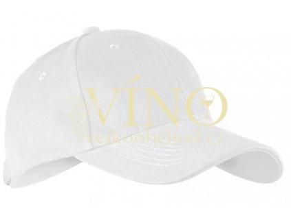 ALEX FOX CHILD 6 PANEL CAP dětská kšiltovka, bílá