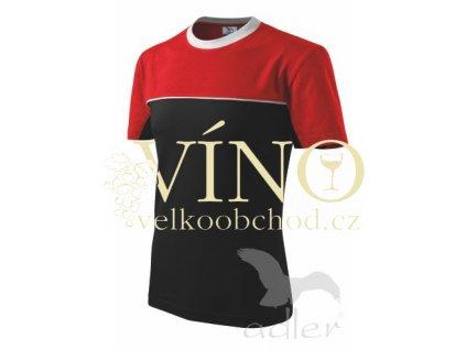 Adler 109 Colormix 200, pánské triko s krátkým rukávem, černá/červená