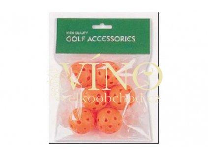 HOLLOW PRACTICE BALLS, míčky tréninkové 6 ks oranžové