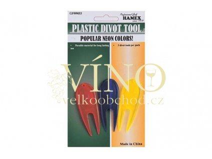 PLASTIC DIVOT TOOL plastiková vypichovátka 3 ks
