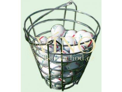 Kovový koš na golfové míče pro 75 ks