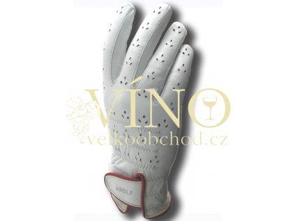 aGOLF golfová rukavice dámská vel. 6 1/2, červená, pravá