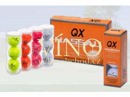 NASSAU QX golfový míč růžový