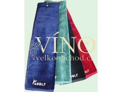 aGOLF golfový ručník 650 g/m2, červená