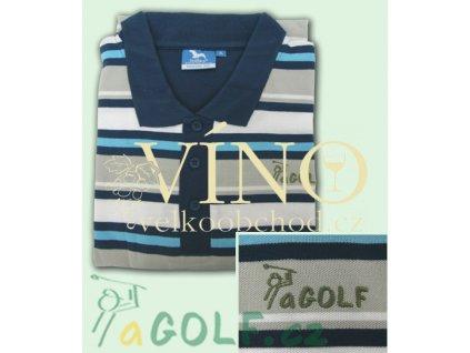 aGOLF modrá golfová polokošile UNISEX - ZDARMA k objednávce nad 3.000 Kč