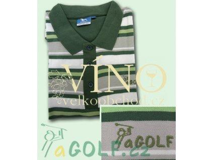 aGOLF zelená golfová polokošile UNISEX - ZDARMA k objednávce nad 3.000 Kč