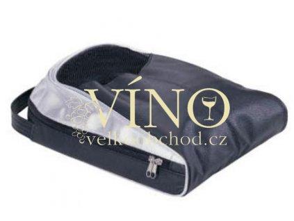 DELUXE SHOE CARRIER taška na boty deluxe, černo-stříbrná