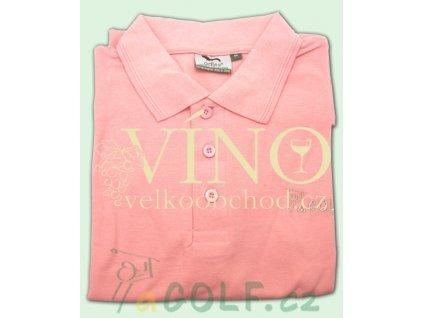 aGOLF golfová polokošile UNISEX růžová
