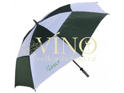 aGOLF UMBRELLA golfový deštník zeleno-bílý