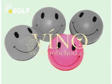 "kolekce ""SMILEY"" gumový míček, růžový"