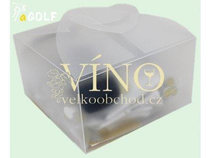Dárková krabička transparentní 13,3x13,3x7 cm