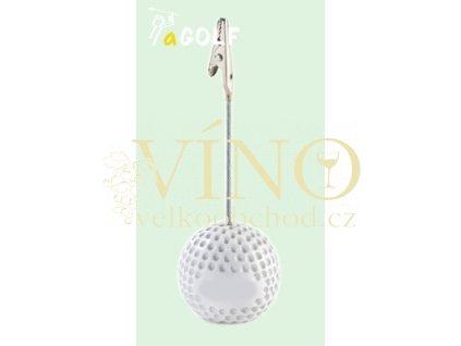 GOLF CARD HOLDER držáček na vzkazy ve tvaru golfového míčku
