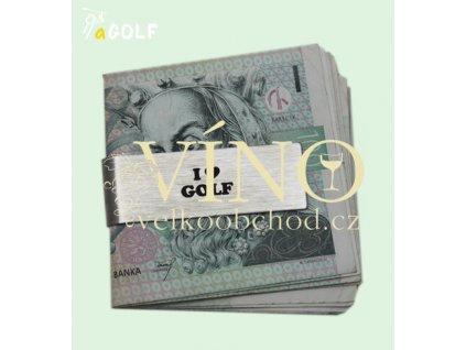 """kolekce """"I LOVE GOLF"""" klip na peníze, bankovky"""